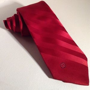 HALSTON - Red design silk tie